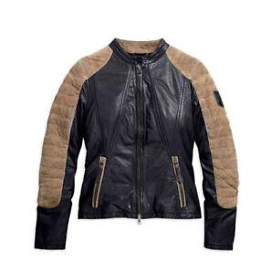 Harley-Davidson-Women-039-s-Endeavor-Leather-Jacket-97088-16VW-MEDIUM-RRP-426