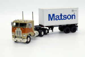 dd-Athearn-White-Freightliner-COE-w-20-039-Matson-Container-Truck-1-87-HO-scale