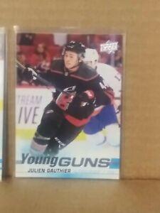 2019-20 Upper Deck #498 Julien Gauthier Rookie card YG Young Guns RC NHL