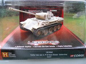 Corgi Legends Hc 60209 Char Panther G Couleur Sable Camo Blanc 9 Ss Pz Dv Mint