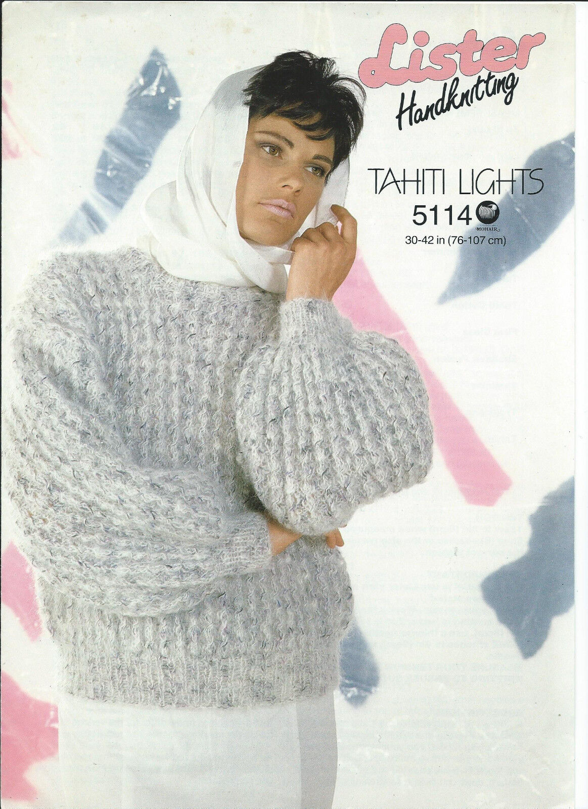 8fce21b3999931 Lister Ladies Tahiti Wool Sweater   Jumper Knitting Pattern Size 30 ...