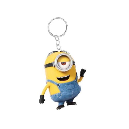 Genuine Despicable Me Minions /'Stuart/' Banana Scented 3D Keyring Fob Key Ring