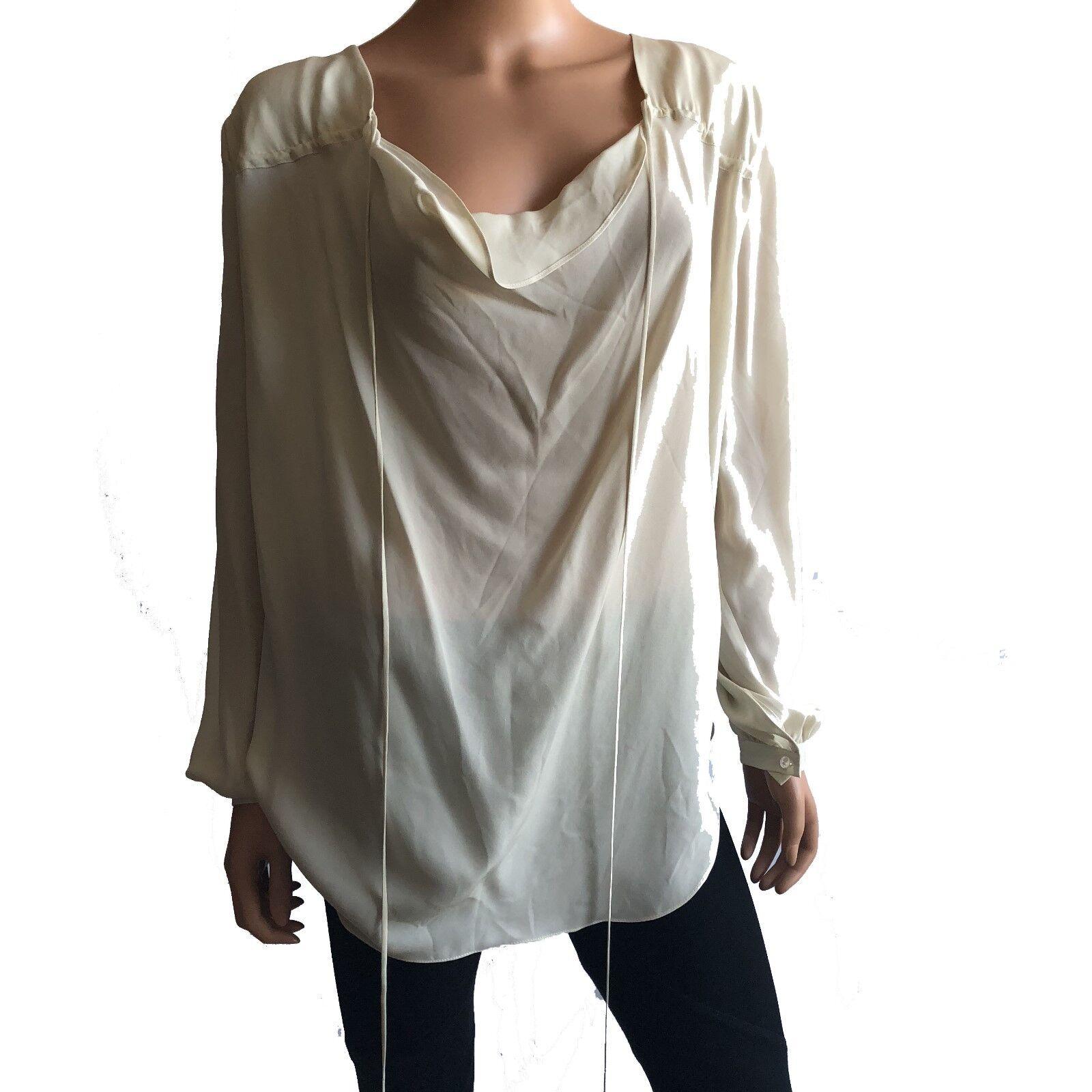 Haute Hippie  Lange Sleeve  Ivoire  Silk Blouse    Größe S