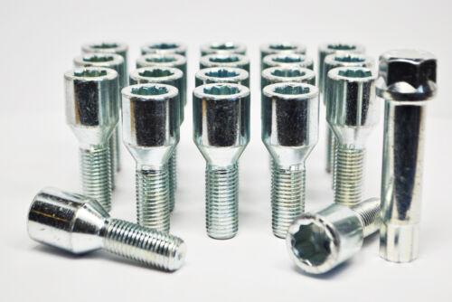 Tuner bulloni con chiave 28mm Filo 20 x m14 x 1.5 zinco