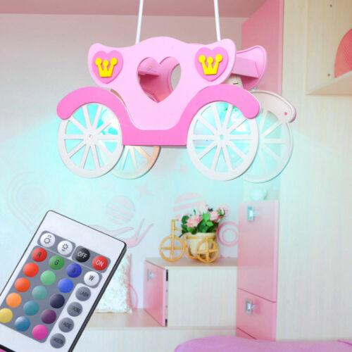 LED RGB Decken Pendel Mädchen Hänge Lampe Prinzessin Kutsche pink Kinder Zimmer