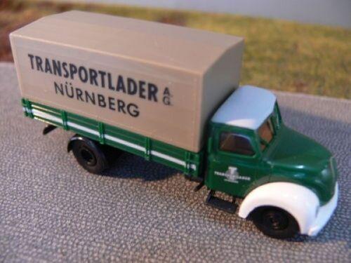 1//87 Brekina Magirus 4500 transporte cargador nuremberg precio especial 5,99 € en lugar de 10,90