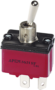 APEM 3631NF//2//36311200 Toggle Switch 250 V//AC 6A 1 x From//A rastend 1St.