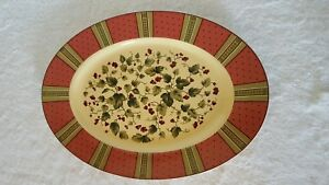 Waverly Garden Room Floral Manor Oval Platter 14 Quot Made