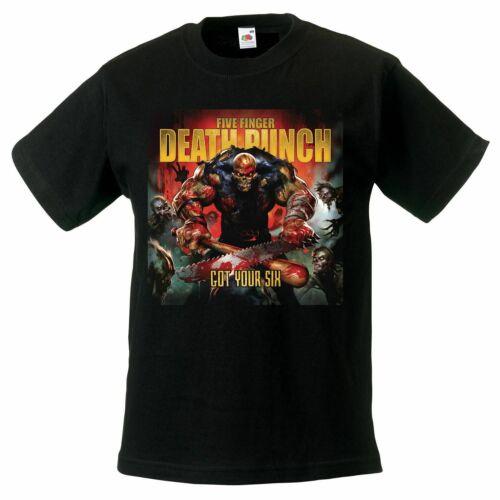 Five Finger Death Punch got your six model-2 t-shirt BLACK kid clothing children