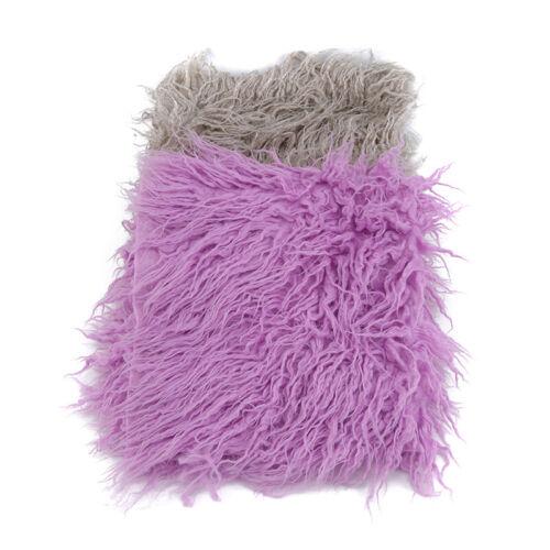 Faux Fur Photography Photo Prop Newborn Baby Wool Blanket Solid Backdrop Rug N7