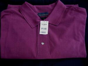 NWT-Saddlebred-Polo-Golf-SS-Short-Sleeve-Raspberry-Cotton-Shirt-Mens-XL-X-Large