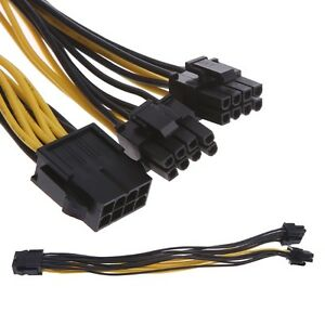 CPU-8Pin-Graphics-Video-Card-Double-PCI-E-PCIE-Power-Supply-Splitter-Cable-GREAT