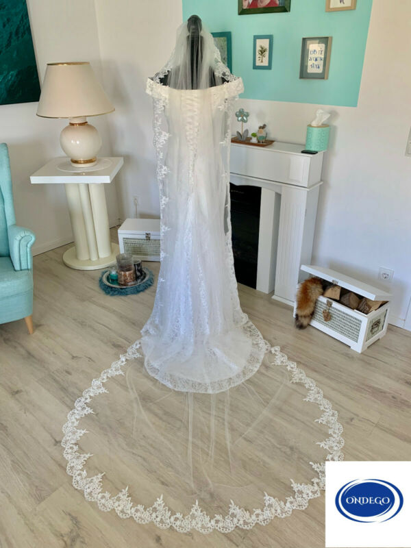 3 Meter Schleier Brautschleier Lang Kathedrale Kirche Spitze Ivory Braut Kapelle Sparen Sie 50-70%