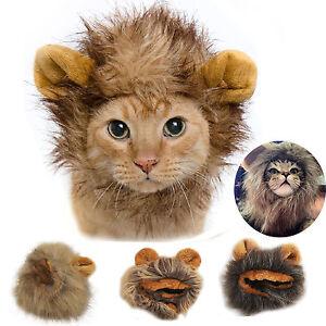 crini re de lion pour chat chiot costume d guisement chapeau halloween oreilles ebay. Black Bedroom Furniture Sets. Home Design Ideas