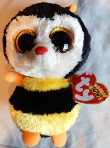 STING the Bee - Glitter Eyes - Ty 6   Beanie Boos - NEW with MINT RED TAGS