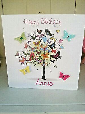Beautiful Womens Butterfly Handmade Birthday Card 30th 40th 50th 60th