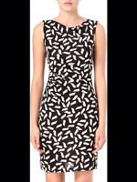 Size 10 Diane Von Furstenberg Glasmary Silk Dress  NWT