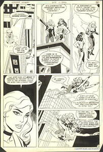 1983 WONDER WOMAN #309 PAGE 4 COMIC ORIGINAL ART BY DON HECK with BLACK CANARY