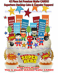 Enjoyable Edible Superhero Spiderman Batman Superman Stand Up Birthday Cake Funny Birthday Cards Online Bapapcheapnameinfo
