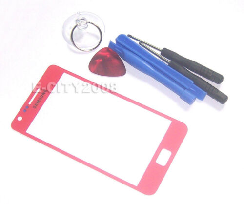 Outer Front Screen Glass Lens for Samsung Galaxy S2 I9100 I9100M I9100G Red