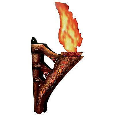 (2) MEDIEVAL Castle 3-D WALL TORCH Party Prop Decoration GAME of THRONES