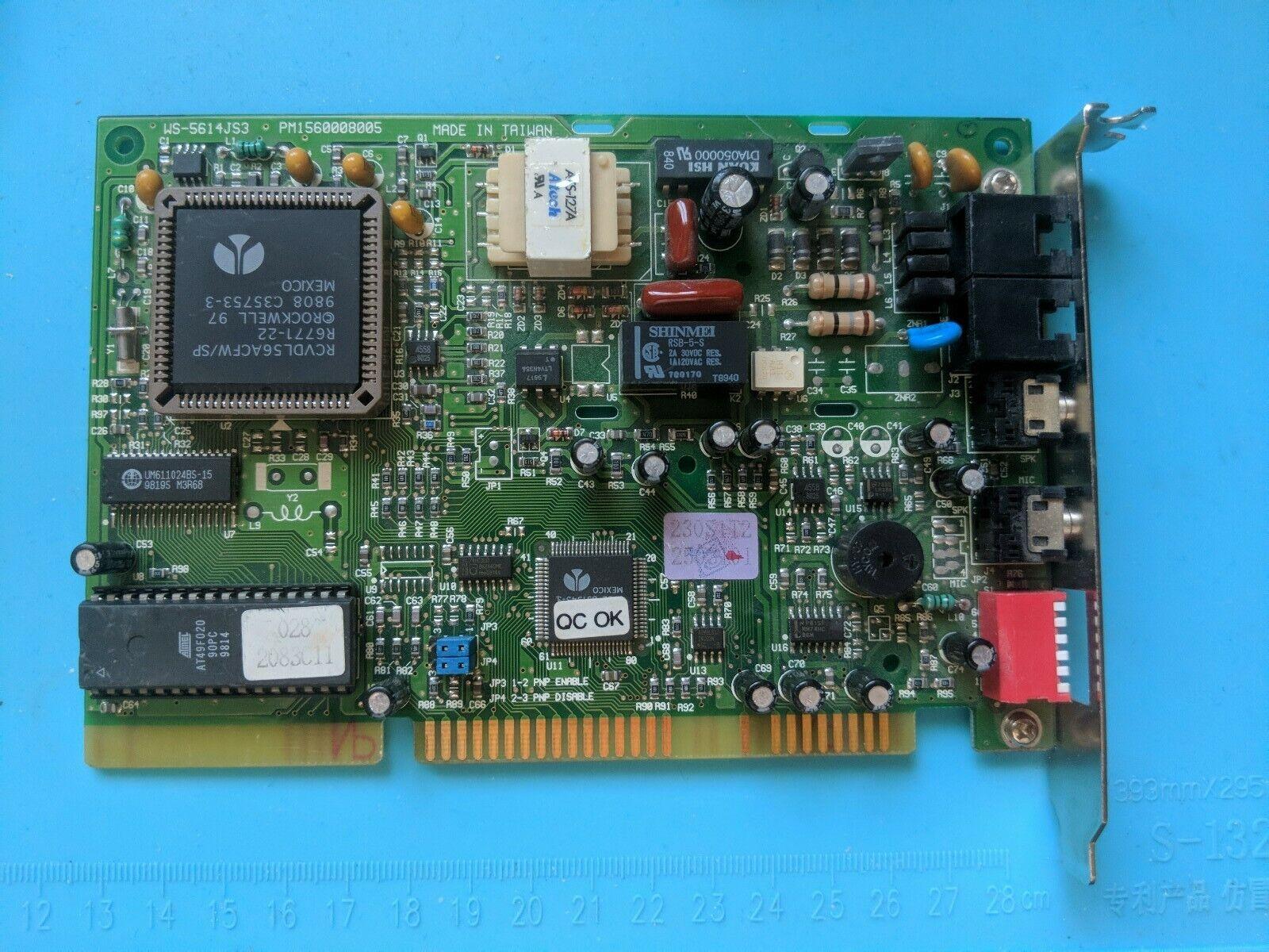 Rockwell Chipset 56K ISA Vioce Fax/Modem Card RCVDL56ACFW