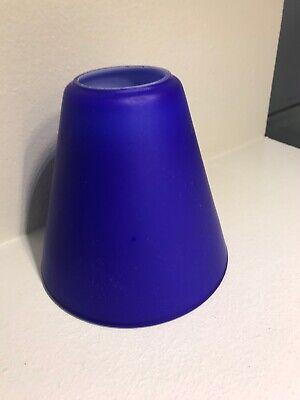 1 Lampenschirm Ersatzglas Klassisch BLAU  D13cm H12cm  Loch 4,5cm E27