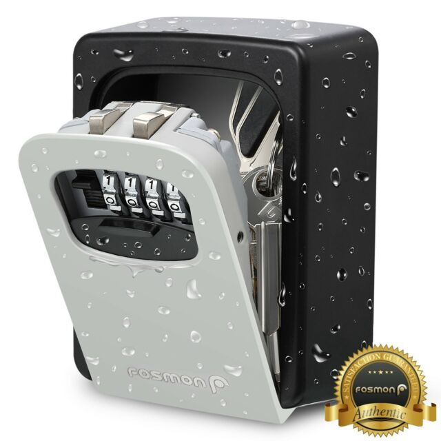 Key Storage Lock Box Wall Mounted Key Holder with 4-Digit Combination Security Storage Organizer