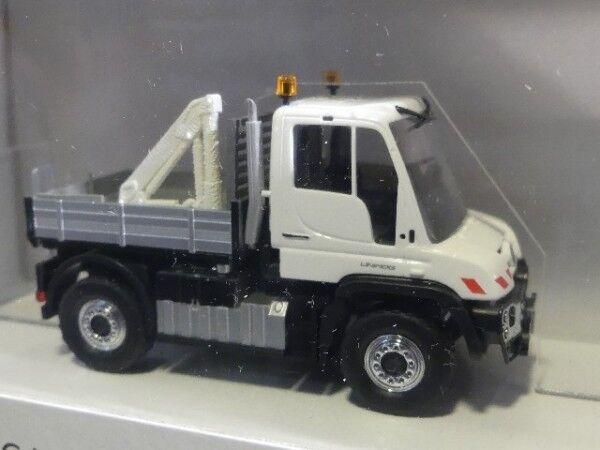 1 87 Busch MB Unimog U 430 avec ladekran et grille de prougeection 50910