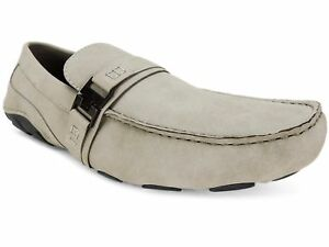 Kenneth-Cole-Reaction-Men-039-s-Suede-Toast-2-Me-Drivers-Light-Grey-Size-8-5-M