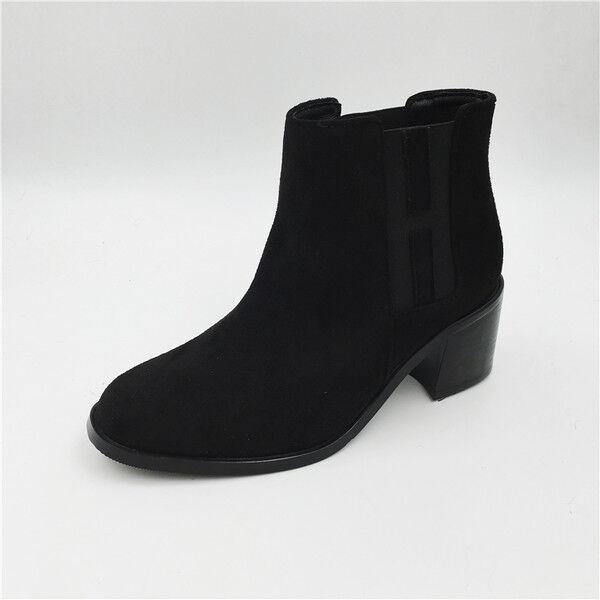 botas bajo zapatos negro botas militares 4 cm negro zapatos elegantes como piel 9515 f0c3b8