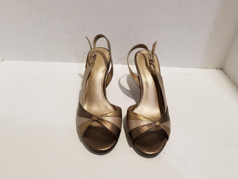 Liz Claiborne Womens Size Multi Color Leather Ankle Strap Sandals Size Womens 9 M feab8d