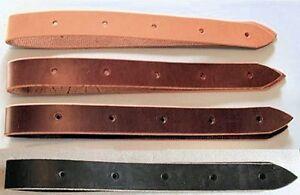 USA Leather Saddle Latigo Cinch Straps Billets ~ 3'_6'_8'  Black_ Brown_ Natural