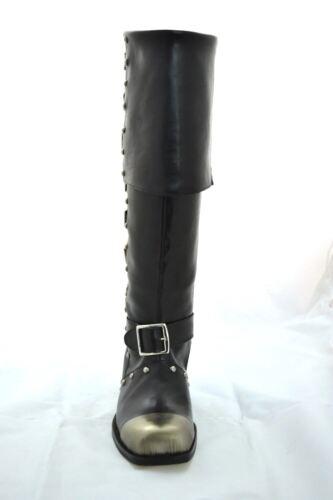 Boots Pirata Stivali Pirate Blackbeard Pelle Leather Barbanera Vera Potc True ZTIw4TBq