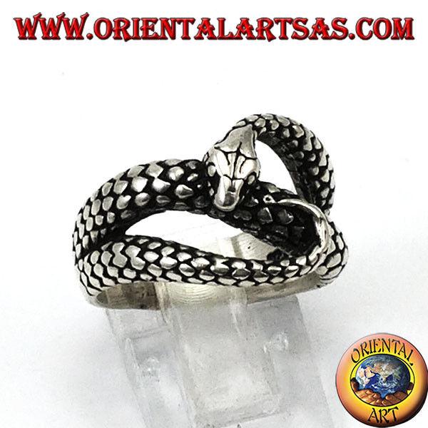 925 silver ring ‰ geformt schlange cobra dass sie bisse