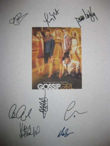 Gossip Girl Signed TV Script X8 Blake Lively Leighton Meester Chace Crawford rpt