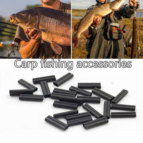 60 Pieces Carp Fishing Crimps For Stiff Coated Braiding Crimps Mono Leader F3Q3
