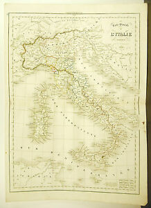 Made-in-Italy-Modern-Italia-Card-Antique-1838-Ancient-Map-Karte-45cm-38cm