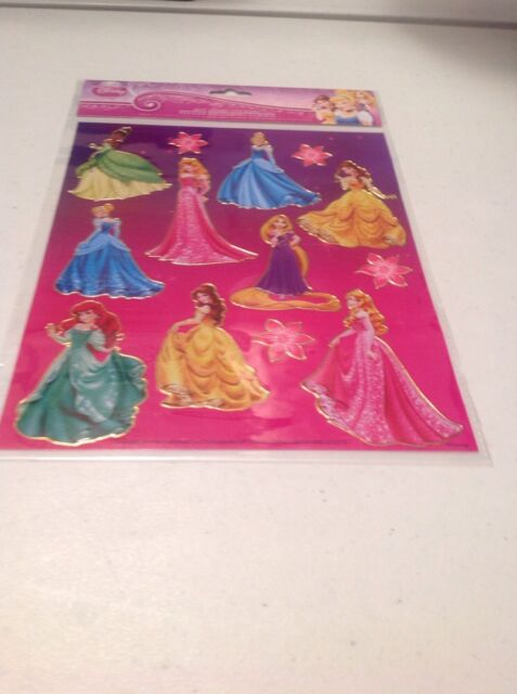 Disney Princess Foiled Large Sheet Assorted Stickers/ New