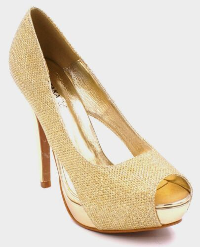 Womens Party Platform Pumps High Heels Stiletto Prom Peeptoe Court Shoes Size 3