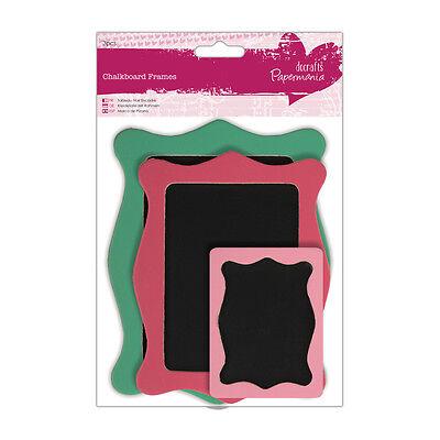 Bellissimo Papermania 3pk Telaio Di Legno Chalkboards Riutilizzabili Craft Abbellimento- Carattere Aromatico E Gusto Gradevole