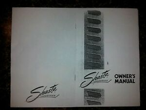 Details about SHASTA VINTAGE TRAVEL TRAILER OWNERS MANUAL NEW (COPY)