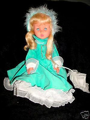 "15""-1960's Elisabetta furga clone doll-blue velvet coat"