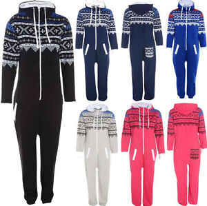 New-Mens-Womens-Ladies-Unisex-Aztec-Printed-Onesie-Jumpsuit-All-In-One-S-M-L-XL