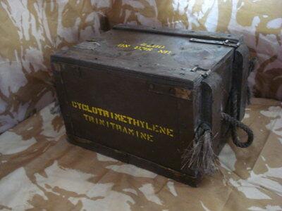 Wooden British Army Ammo Box
