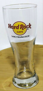 Hard-Rock-Cafe-Pilsner-Tall-Drinking-Beer-Glass-20-fl-oz-Location-SAN-FRANCISCO