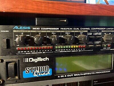 Alesis 3630 Compressor Dual Channel Compressor Limiter with Gate