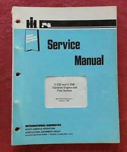 INTERNATIONAL HARVESTER 275 375 WINDROWER 4000 SWATHER C-232 C-258 ENGINE MANUAL
