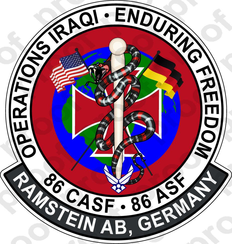 STICKER USAF 86TH CASF ASF
