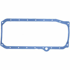 FelPro SBC Chevy 350 Thick Front Rubber47Steel 1Piece Design Oil Pan Gasket Ea